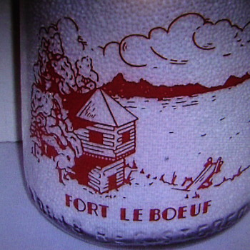 LeBoeuf Valley Farms Dairy Milk Bottle Featuring FORT LE BOEUF...Waterford Pennsylvania - Bottles