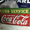 Coca Cola 1930's Curb service sign