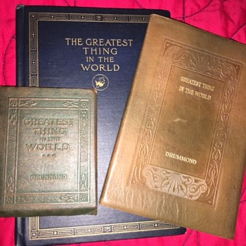 GREATEST THING IN THE WORLD (Love) by Henry Drummond  - Books