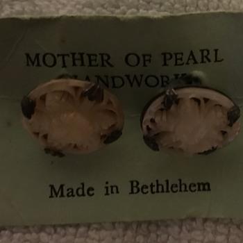 Cufflinks Mother of Pearl Bethlehem