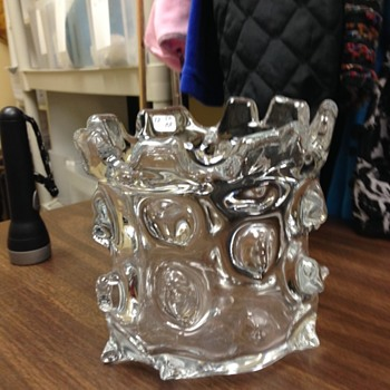 Help ID Knotty Vase - Glassware