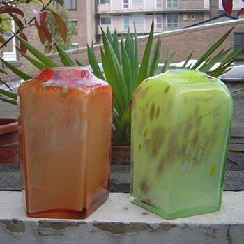 2x Willem Heesen - Art Glass