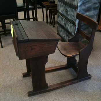 School house wooden student desk - Furniture