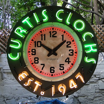 Huge 4 foot neon Clocks - Advertising