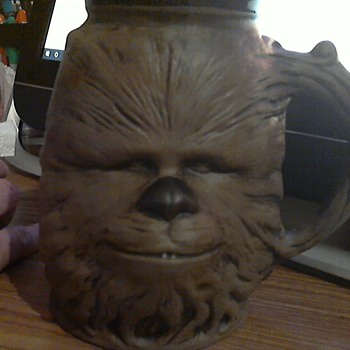RUMPH collectibles mugs STAR WARS edition #26 and #27 chewbaca and obi one kanobi - Kitchen