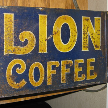 Lion Coffee Flange Sign