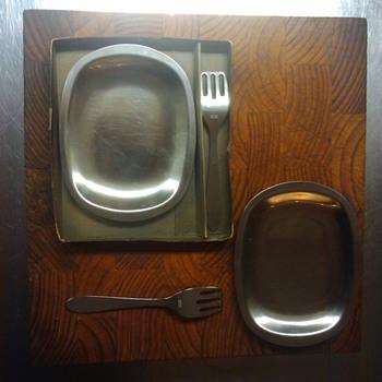STELTON HERRING FORK & DISH - Kitchen