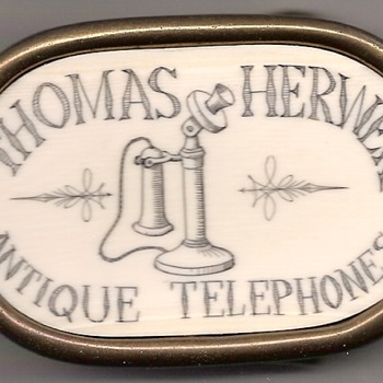 Scrimshaw Telephone Belt Buckle