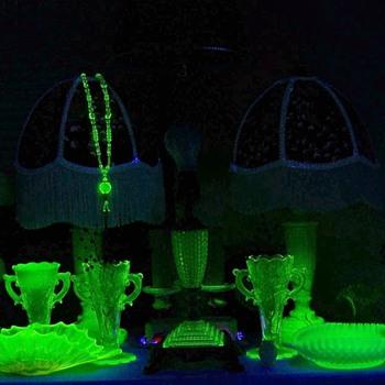 Some more Uranium glass - Lamps