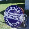 Porcelin 2 sided Dodge sign