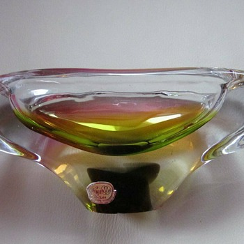 Latest Czech Glass Mid Century Piece, sold as Rhapsody.... from Czech Republic seller.Or is it Pizzicato? - Art Glass