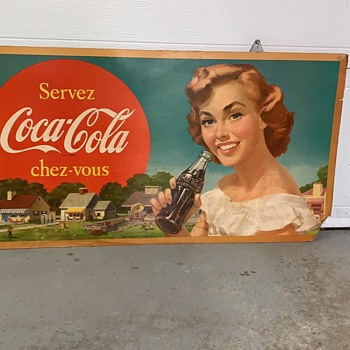 Carboard publicity and thermometer  - Coca-Cola