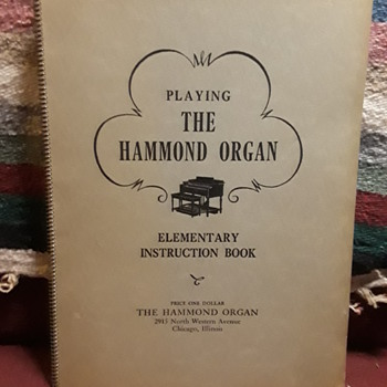 """PLAYING THE HAMMOND ORGAN"" instruction book, ca. 1936 - Books"