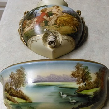 PORCELAIN WATER POCKET WALL FIXTURE - Pottery