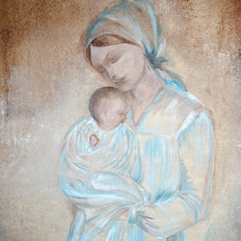Mother and Infant Painting - Fine Art