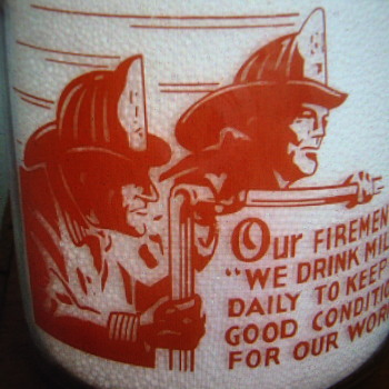 BORDEN'S DAIRY DELIVERY CO...SAN FRANCISCO CALIFORNIA...AWESOME FIREMAN PICTURE - Bottles