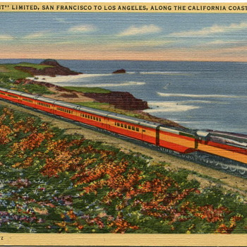 Two Vintage Railroad Postcards.... - Railroadiana