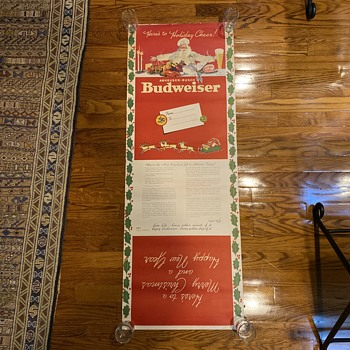 Budweiser wrapping paper  - Breweriana