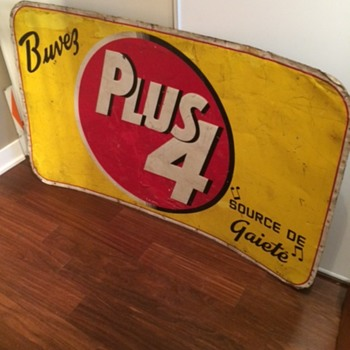 Vintage Plus 4 Soda Metal Advertising Sign-Made By St. Thomas Metal Signs