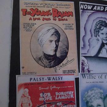 "RARE SILENT MOVIE SHEET MUSIC, ""THE YOUNG RAJA"", 1922-- RUDOLPH VALENTINO - Music Memorabilia"