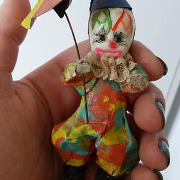 Vintage Paper Mache Clown - Folk Art