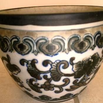 Underglze Blue Asian Bowl?