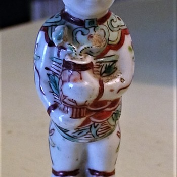 Chinese Hehe /Erxian Boy Figurine (?) - Asian