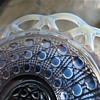Vintage Imperial  Glass - Blue Lace Pattern Dish