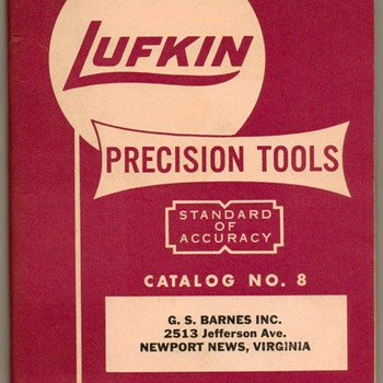 1955 - Lufkin Rule Co. Precision Tools Catalog - Paper