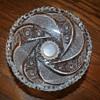Cut Glass or Crystal Vintage Pedestal Bowl