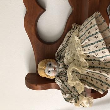 Blonde China Head Doll marked S1685 Japan - Dolls