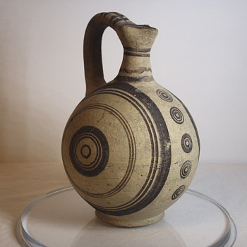 "Oversea Pottery,Water Pitcher ??"" Age unknown - Pottery"