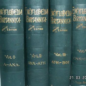 1890 Encyclopedia Britannica 9th Edition - Volumes: I, II, III, V - Books