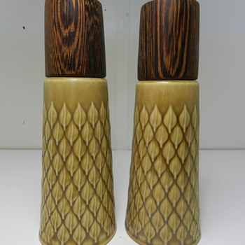 "Jens Quistgaard ""Relief"" Teak Salt & Pepper Shakers For Kronjyden - Kitchen"