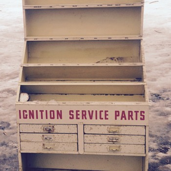 My Wells ignition service parts display stand! - Advertising