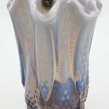 Westmoreland Glass Lilac Opalescent Stretched Vase - Glassware