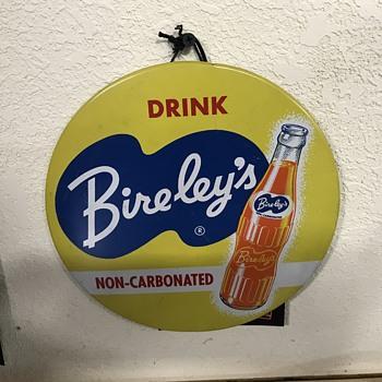 Bireley's soda button  - Signs