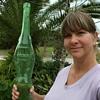 "XLarge Female figure green bottle 6 lbs 3.5 oz - 31.5"" Tall"