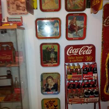 1938-1957 Coca-cola Serving Trays - Coca-Cola