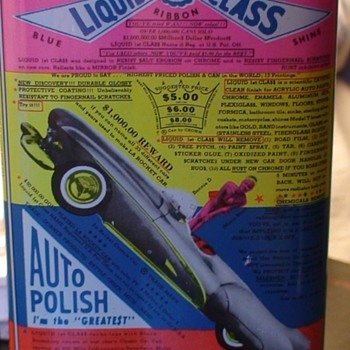 First Class Liquid Auto Polish (1960s?) - Advertising