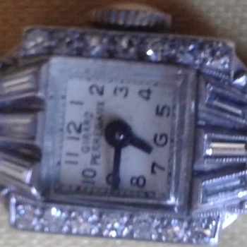 Girard Perregaux Art Deco 1945 Diamond 14K Gold and Platnium - Art Deco