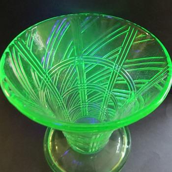Uranium Glass Vase