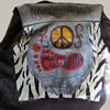 """1960s Motorcycle Jacket """"BOLO for PEACE"""" named BIGFOOT"""
