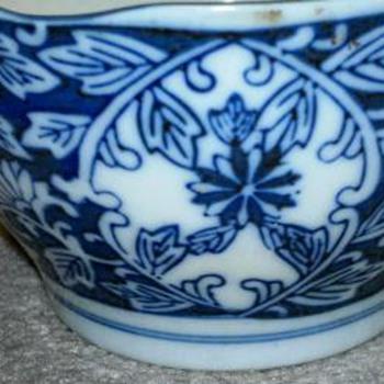Asian Bllue & White  Bowl - Asian