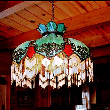 My grandmothers antique slag glass chandelier collectors weekly aloadofball Gallery