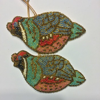 These are Beaded Bird Ornaments Also in the Box  - Christmas