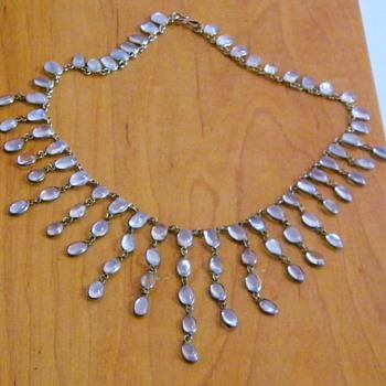 Vintage Antique Victorian Moonstone Festoon Necklace  - Fine Jewelry