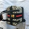 Vintage Gucci 1970s Navy GG Train Case - Pristine never used