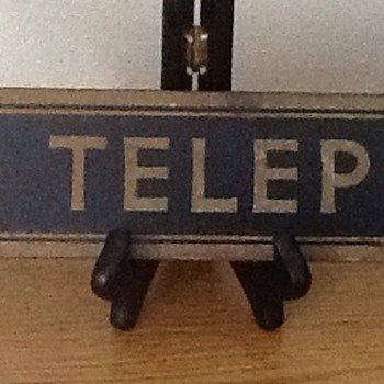 Vintage phone booth sign - Telephones