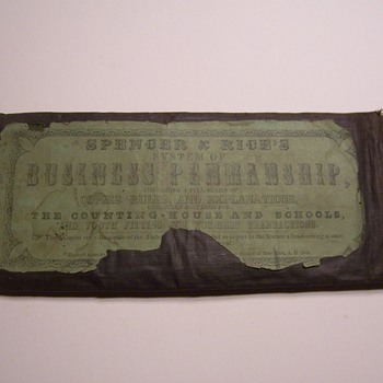 1848 SPENCER & RICE`S  BUSINESS PENMANSHIP SCHOOL PACKET - Paper